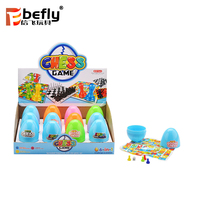 Very cheap plastic chess game capsule toy for promotional