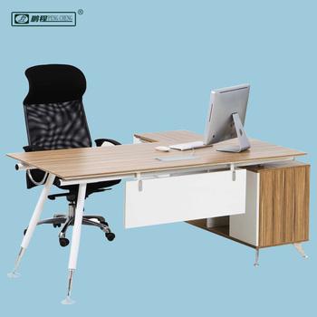 Houten Bureau Gebruikt.Ed01 Hout Staal Nieuwste Ontwerp Kleine Office Gebruikt L Vorm Hoek