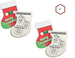 (12) CHRISTMAS Stocking Activity Pads ~ Holiday Notepads ~ Party Favors ~ Sunday Bible School Teacher Classroom Gifts ~ Santa Winter Fair ~ Stocking Stuffers ~ Mazes Coloring Tic Tac Toe ~