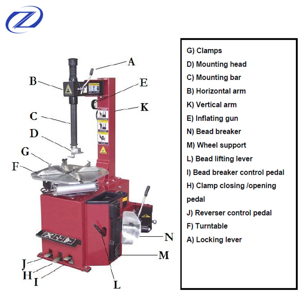 high quality used tire changing machine tire changer machine