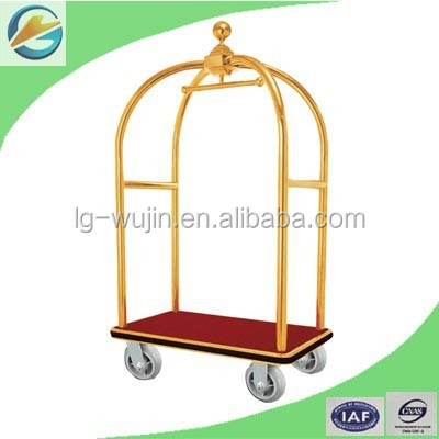 Hotel Lobby Hand Trolley Luggage Cart/Baggage Trolley for Bell Boy