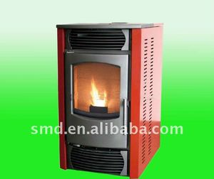 smartmak indoor wood pellet cooking stove, smokeless biomass burning fireplace