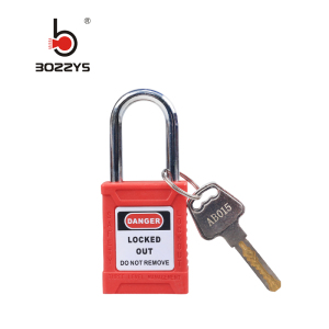 BOSHI High Quality Nylon PA Material Red Color Lockout Safety Padlock