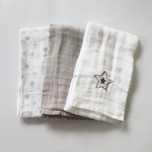 Pretty Design Newborn Baby Muslin Towel 100% Cotton Soft Handle Baby Towel