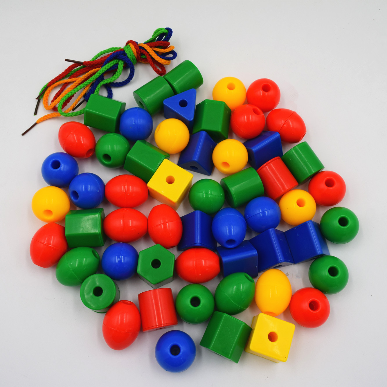 Primary Lacing Beads with Colorful Beads