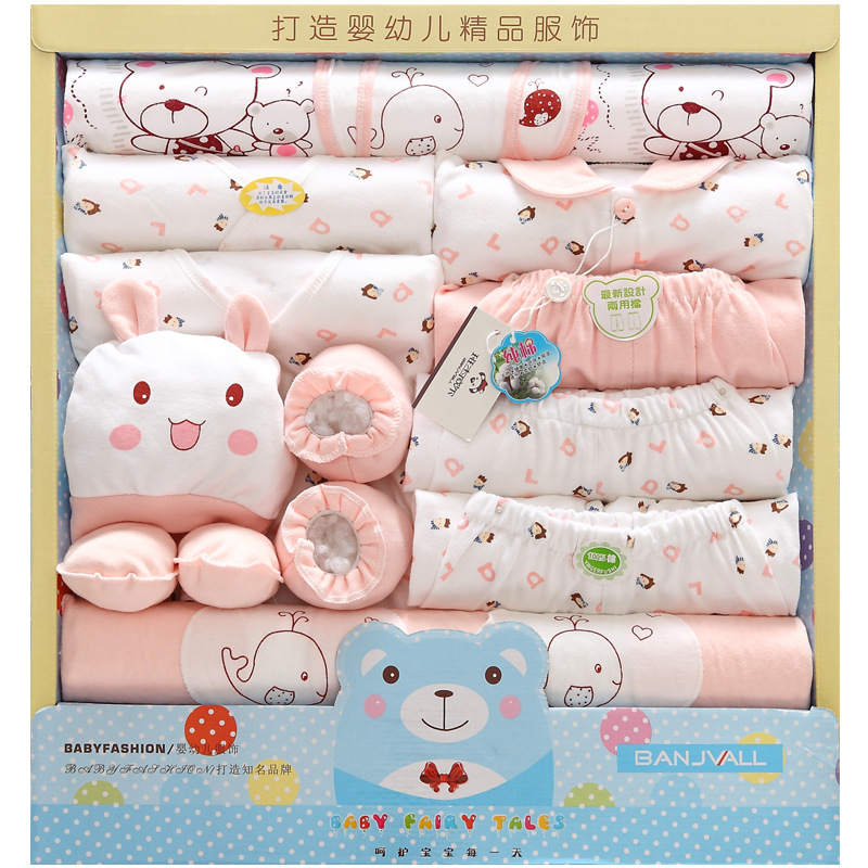 Cotton Body Suit 19 Pcs Infant Baby Girl Boy Boxed Gift