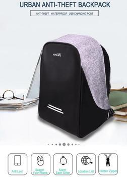 2016 gros bobby sac dos antivol sac dos avec usb port de charge sac d 39 ordinateur portable 15. Black Bedroom Furniture Sets. Home Design Ideas