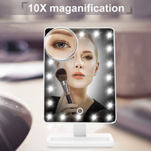 Led light makeup desktop mirror vanity desk mirror
