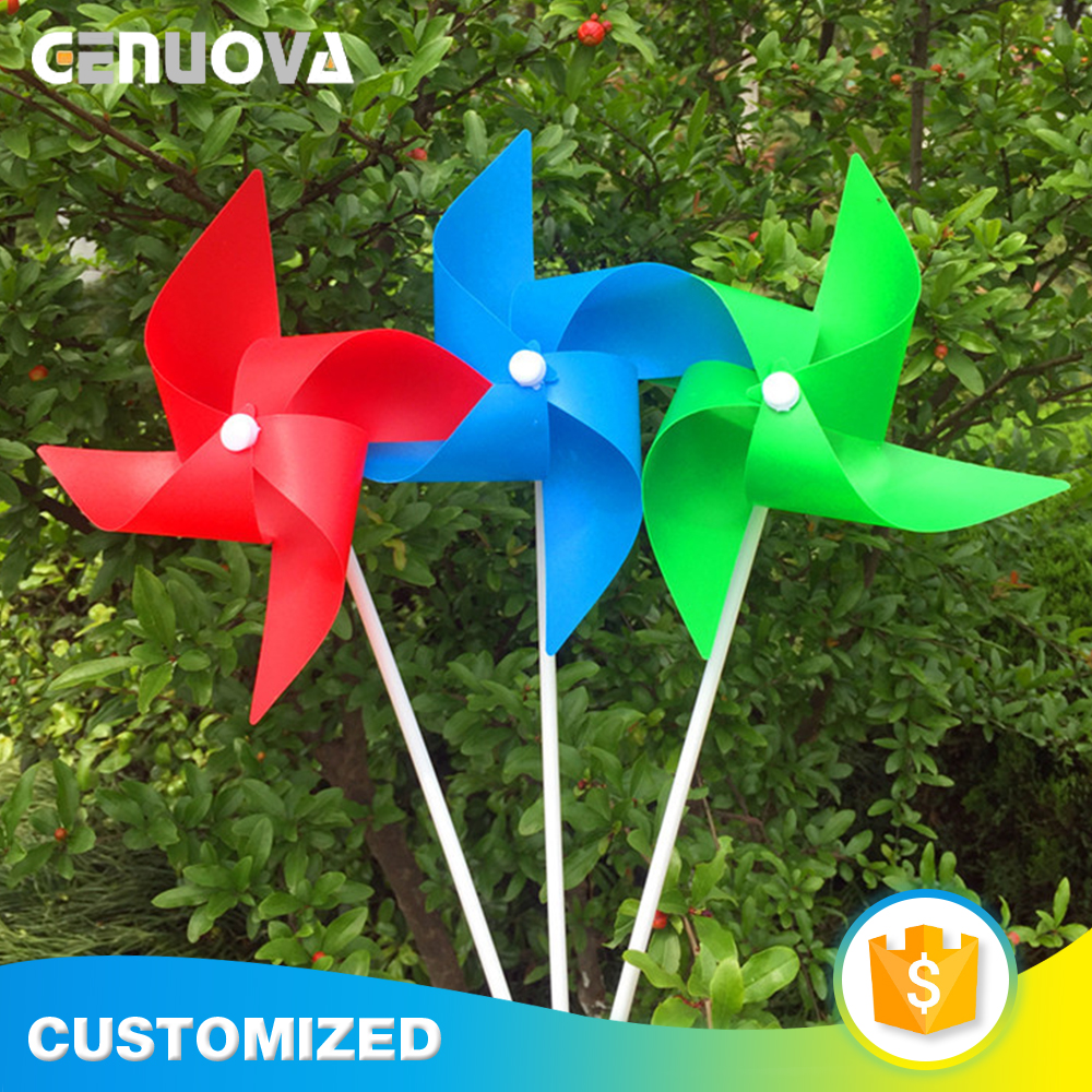 Factory custom pp promotion decoration windmill for garden