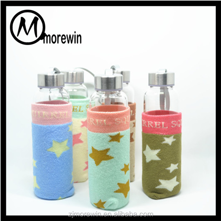 Morewin Brand manufacturer custom colorful jacquard stars pattern cup cover sleeve