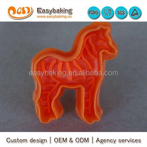 CP-0309 Customized zebra Stamp Plastic Cookie Cutter