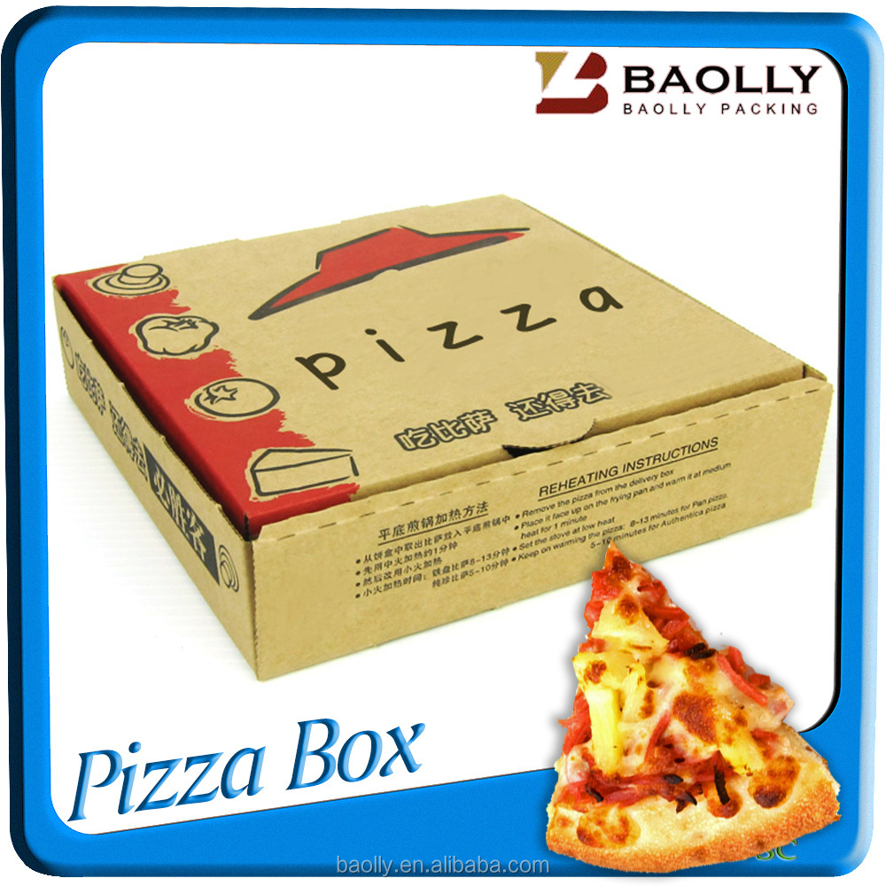 custom packaging solutions of recycled pizza tray box of food packaging containers