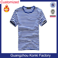 wholesale online short sleeve slim fit for men striped yarn dyed t shirts