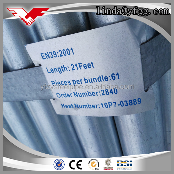 EN39 BS1139 BS1387 Q235 hot dip galvanized scaffold steel pipe specifications 48.3mm  sc 1 st  Alibaba & dip pipe specification-Source quality dip pipe specification from ...