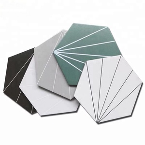 Metal Glaze Floor Kitchen Bathroom Anti-slip Matte Ceramic Hexagon Tiles