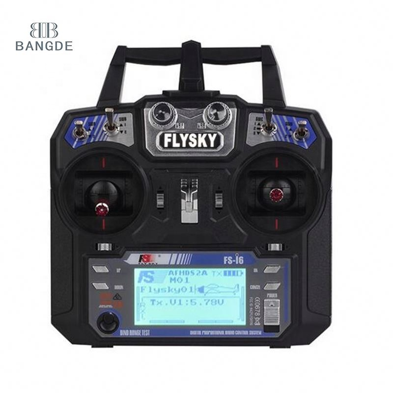 Flysky FS-i6 2.4G 6CH RC Transmitter Controller dengan FS-iA6 Receiver untuk RC Helikopter Pesawat Quadcopter