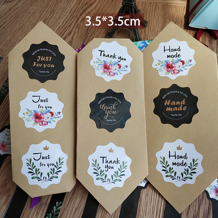 Custom Adhesive Long Transfer Sticker For baking cookies packaging Print