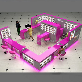 Luxury professional nail bar kiosk in shopping mall