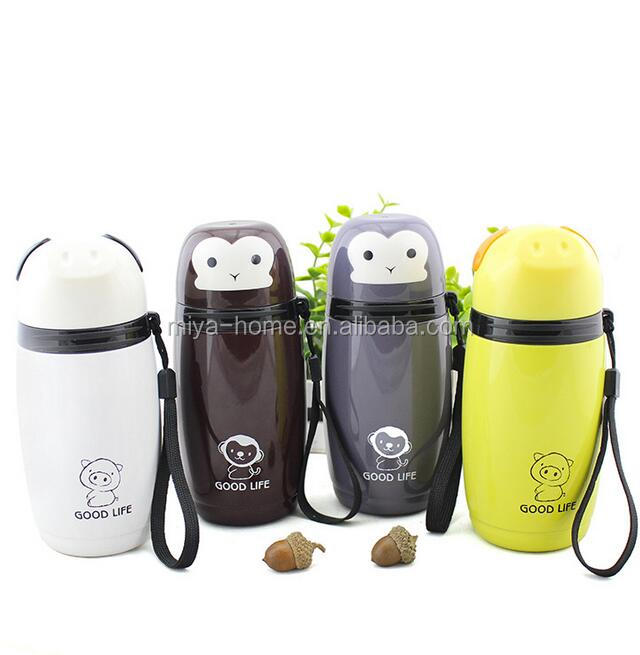 creative cute child stainless steel vacuum mug / keep warm stainless steel mug