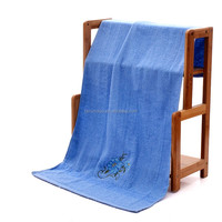 Home textile 100% cotton organic custom embroidery bath towel