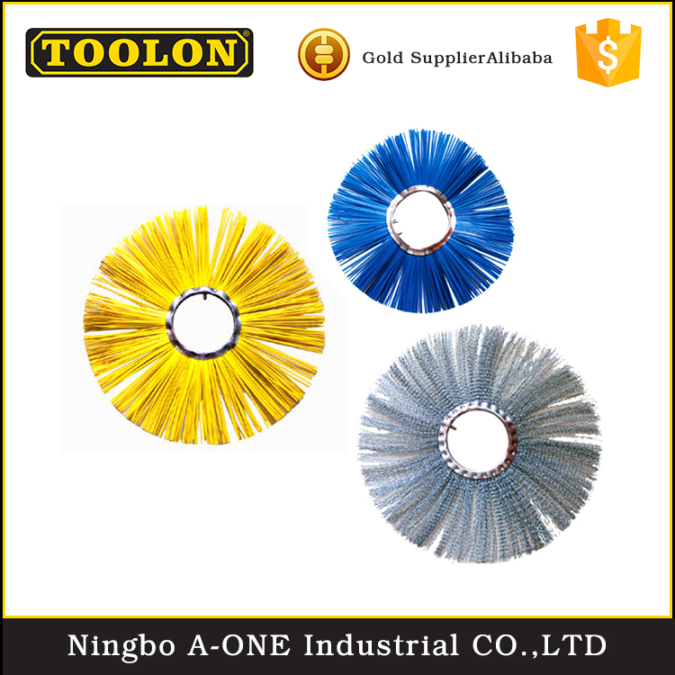 Compact Low Noise 65-150Mm Polishing Steel Wire Exquisite Cleaning Circular Brush
