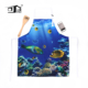 Kefei Custom Printed Blue Cooking Apron