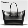 2017 Women hand bag simple and fashion black leather handbag in bohemian styles tote bag leather