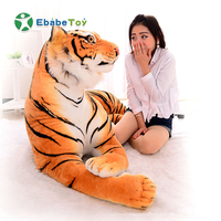 90cm Lifelike Giant Tiger Plush Toy Soft Stuffed Animals Simulation White Huge Tiger Doll Sleeping Pillow Children Kids Gifts