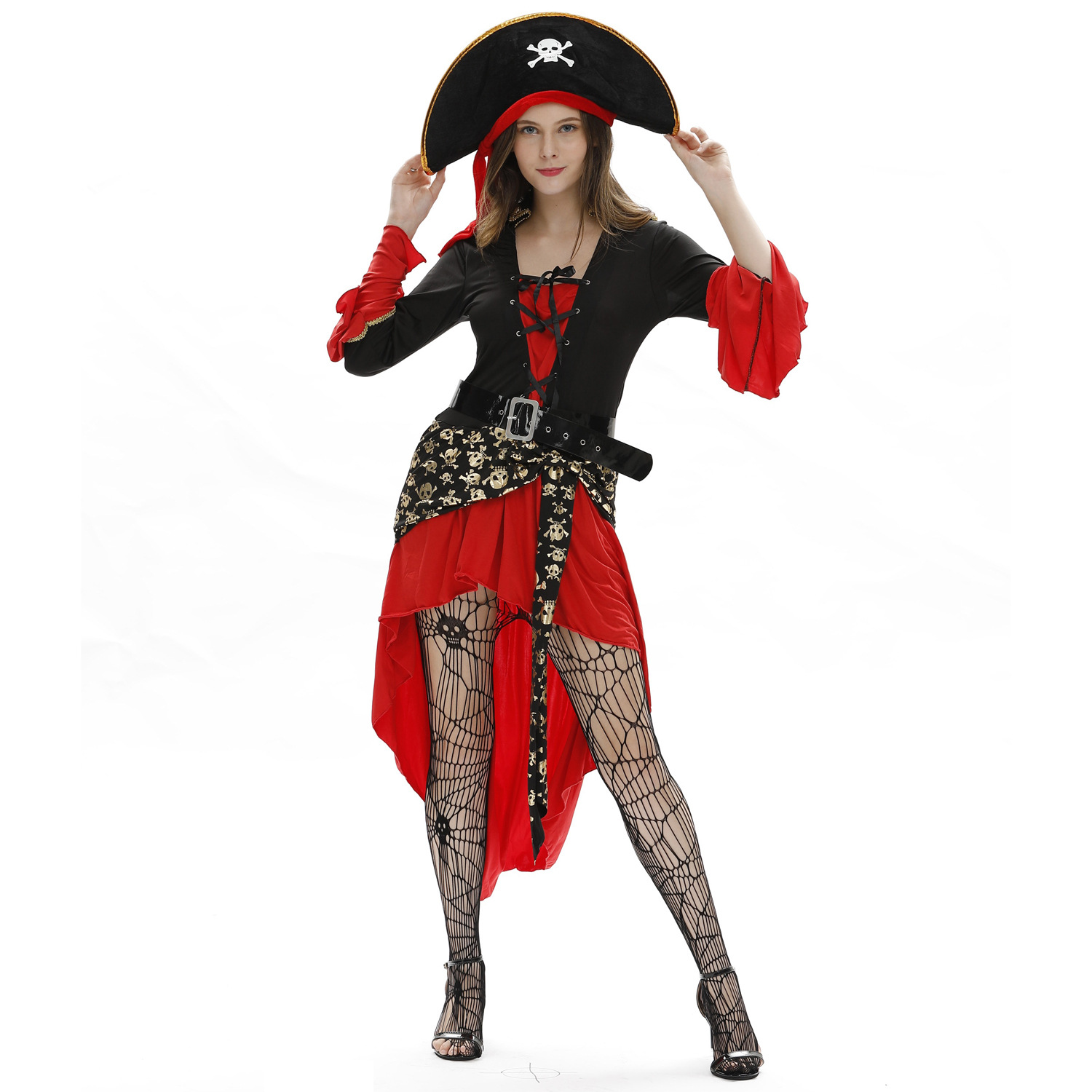 Dropshipping Sexy Female Women American Women Halloween Pirates Costume Cosplay Role-playing Suit Uniforms