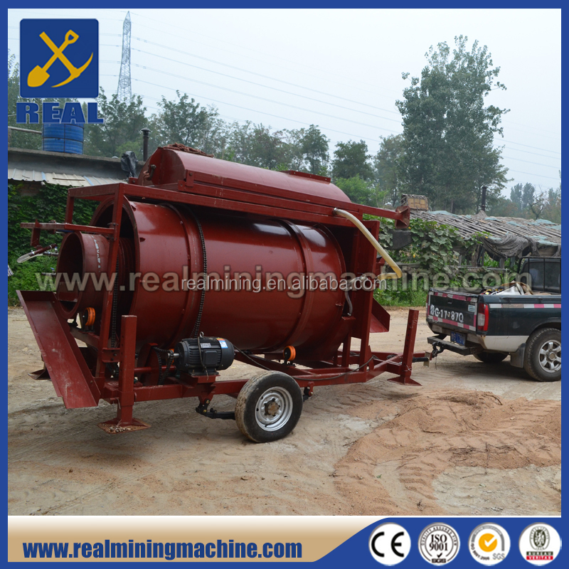 Small Portable Gold Mining Equipment Gold Mining Trommel Wash Plant
