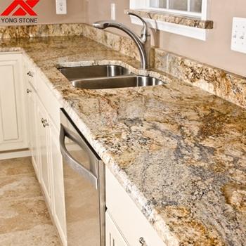 Indian Yellow River Granite Kitchen Countertops Lowes For Sale - Buy Yellow  River Granite Countertop,Kitchen Countertops Lowes For Sale,Countertops ...