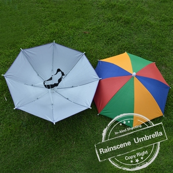 Cheap Promotional Custom Print Head Umbrella/ Umbrella Hat