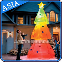 Happy Christmas Inflatable Tree Light Inflatable Balloon Price