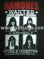 T-SHIRT ROCK BAND VINTAGE TOUR new Black Ramones
