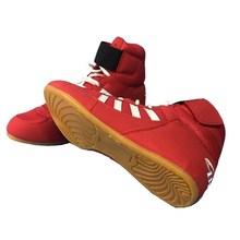 Аутентичная Мужская обувь для борьбы, тренировочная обувь, подошва из коровьей кожи, ботинки на шнуровке, кроссовки, профессиональная боксе...(Китай)