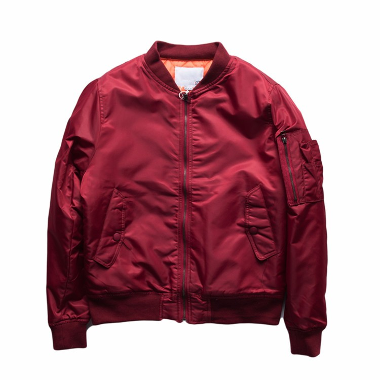 Latest Design High Quality Flight Satin Nylon Red Bomber Jacket ...