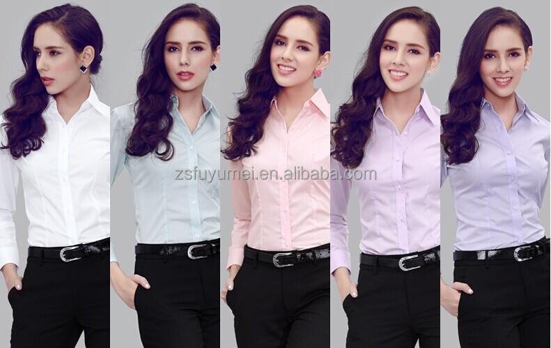 Long Sleeve Office Lady Shirt Women Las Formal 2017
