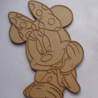 Christmas supplier MDF mickey mouse cartoon decoration