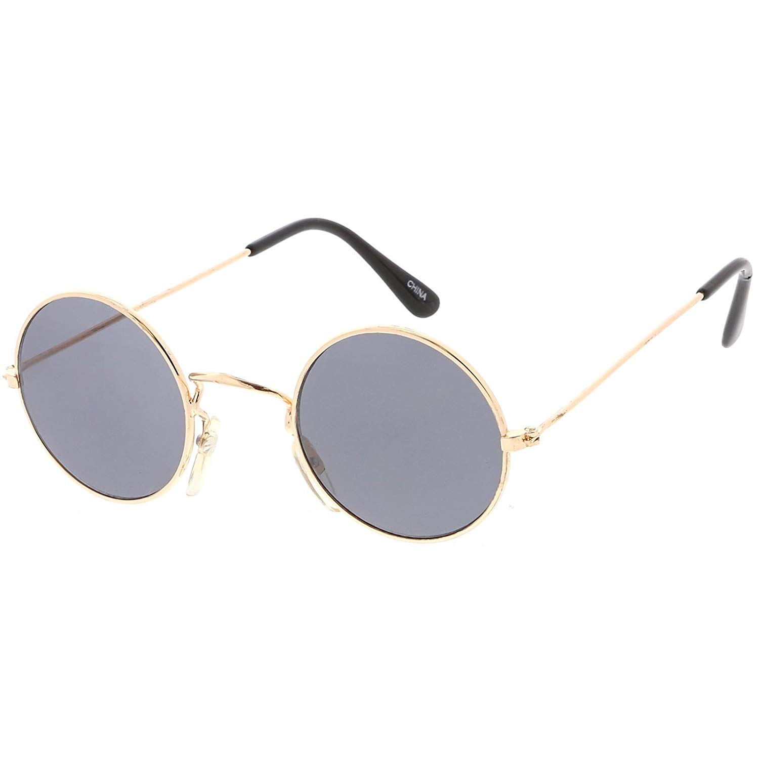 87c163a2a Get Quotations · sunglassLA - True Vintage Small Thin Frame Circle Sunglasses  Neutral Colored Lens 42mm
