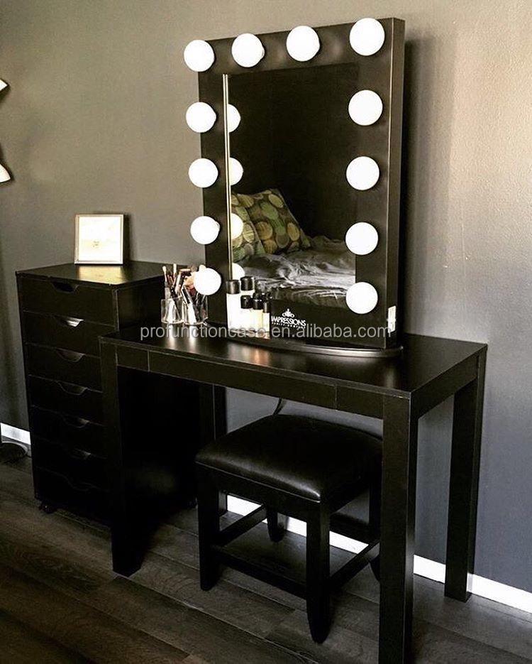 venta caliente del hotel esquina mesa de maquillaje espejo de tocador espejo con luces led dormitorio