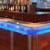 LED light Vanity home tops glass table club
