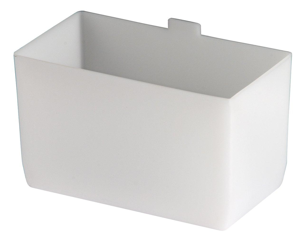 Akro-Mils 30102 2-3/4-Inch by 5-Inch by 3-Inch Large Bin Cup for Shelf Bins, White, 24-Case