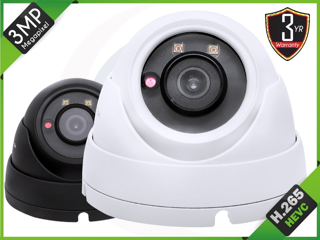 HQ-Cam 3MP (2048×1536)PoE Camera IP-5IRD3002-G/W-3.6mm Fixed Lens, IR Dome Small Security Surveillance Camera IP66 Weatherproof Version (H.265 / H.264 / MJPEG)