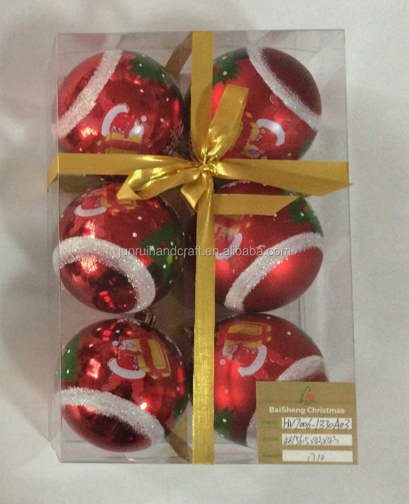 2016 trending products christmas crystal ball ornaments with high quality