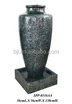 Outdoor Led Vase Fibergl Garden Water Fountain