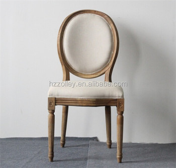 French Style Wood Dining Chair, Wedding And Events Chair/round Back Chairs