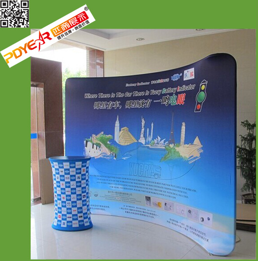 2017 China wholesale custom stretch tension fabric display wall