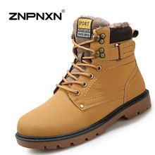 2015 New Fashion Mens Leather Shoes Waterproof Men boots comfortable black winter boots quality ankle boots men Fast Shipping