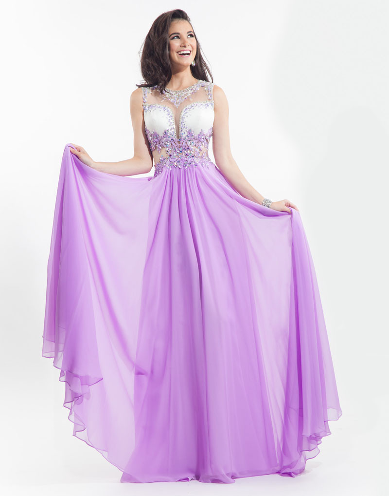 59d81712d5c48 Get Quotations · Elegant Light Purple Prom Dresses flowing chiffon beaded  crystal party dresses formal evening gown floor length