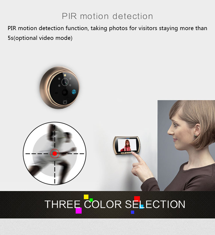 Wholesale Cheap 32GB 1MP IR Night Vision Digit Door Viewer with Motion Detect